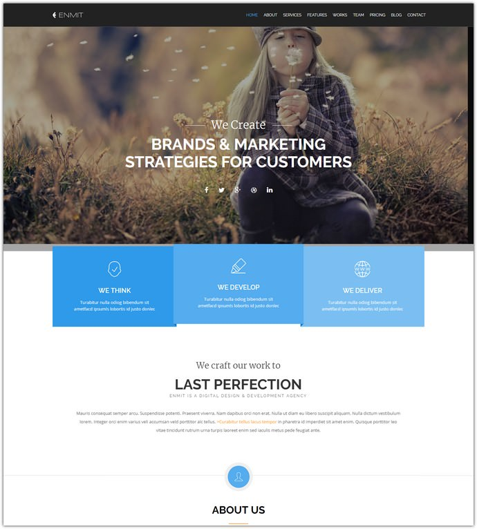 Enmit Multipurpose Bootstrap Template