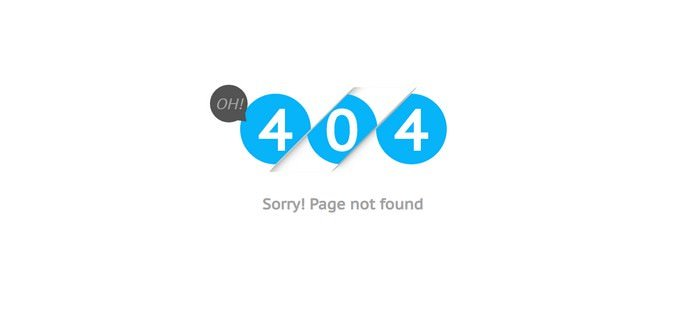 Error 404 Page Design Bootstrap