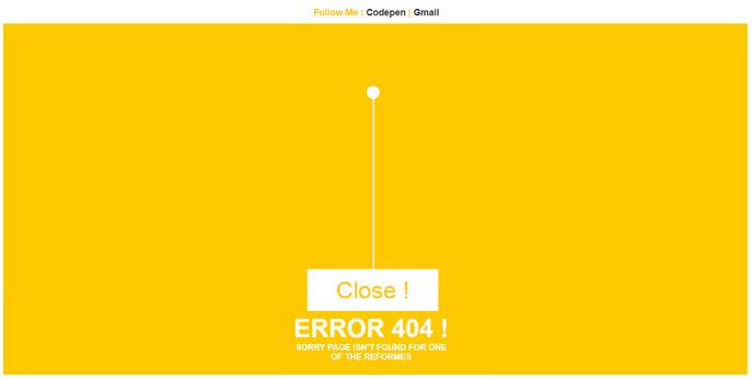 Error Page 404 Page Template
