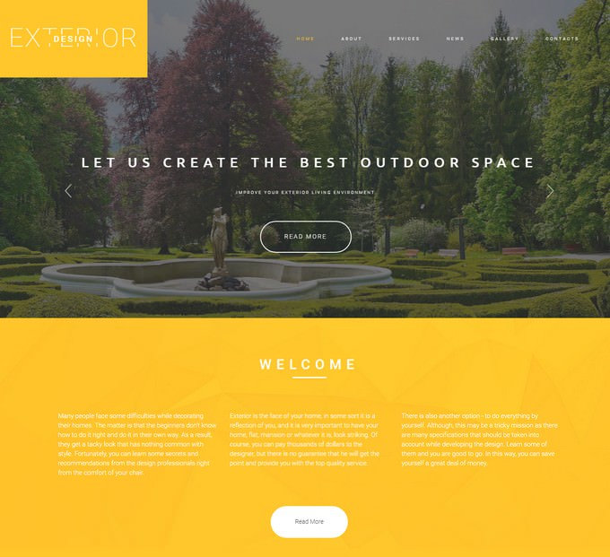 Exterior Responsive Website Template