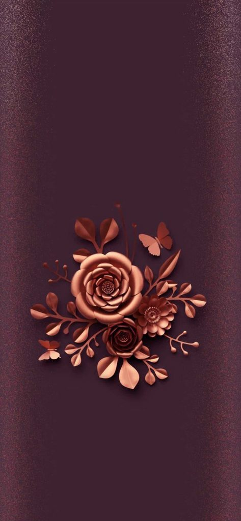1125 × 2436 Golden Flower iPhone Xs background