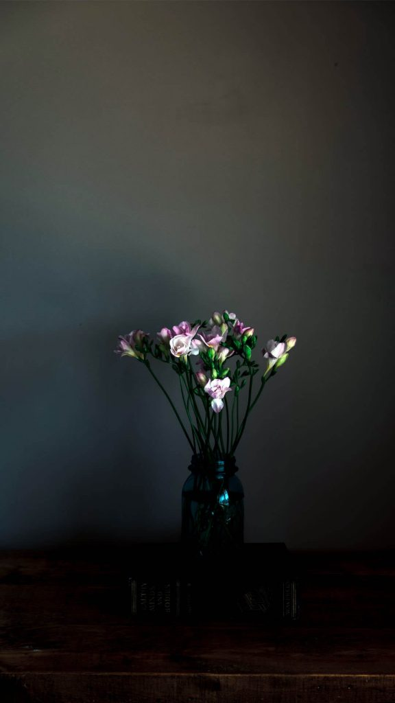1080 × 1920 iPhone Flower Pot on Table wallpaper