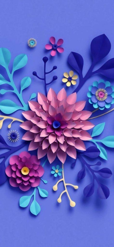 1125 × 2436iPhone Xs DIY Paper Flower wallpaper