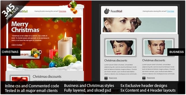 Christmas and Corporate Email Template