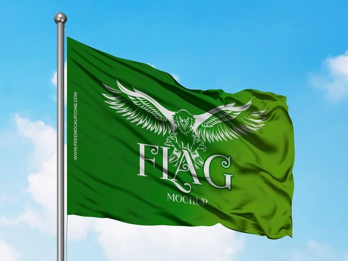 Flag Mockup Free