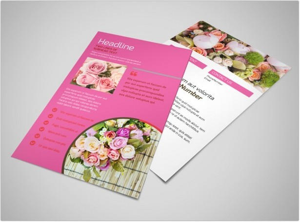 Florists & Flower Delivery Service Flyer Template