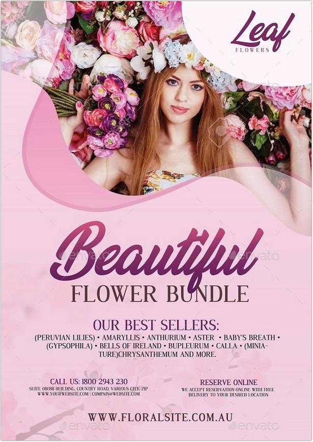 Flower Shop - Flyer template