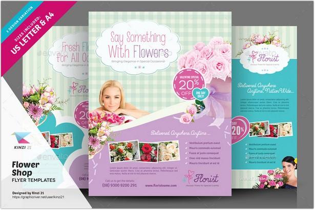 Flower Shop Flyer Templates