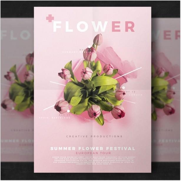 Flower flyer Template