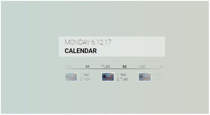Fluent Design Calendar