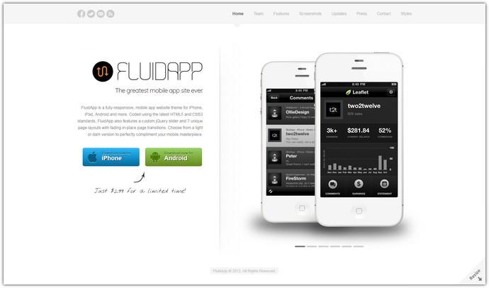 Responsive Mobile App Website Template