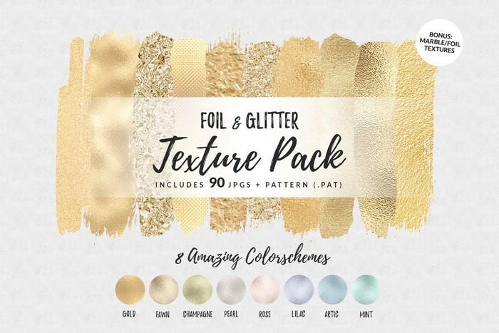 Golden Foil & Glitter Texture Pack 3000x3000 px