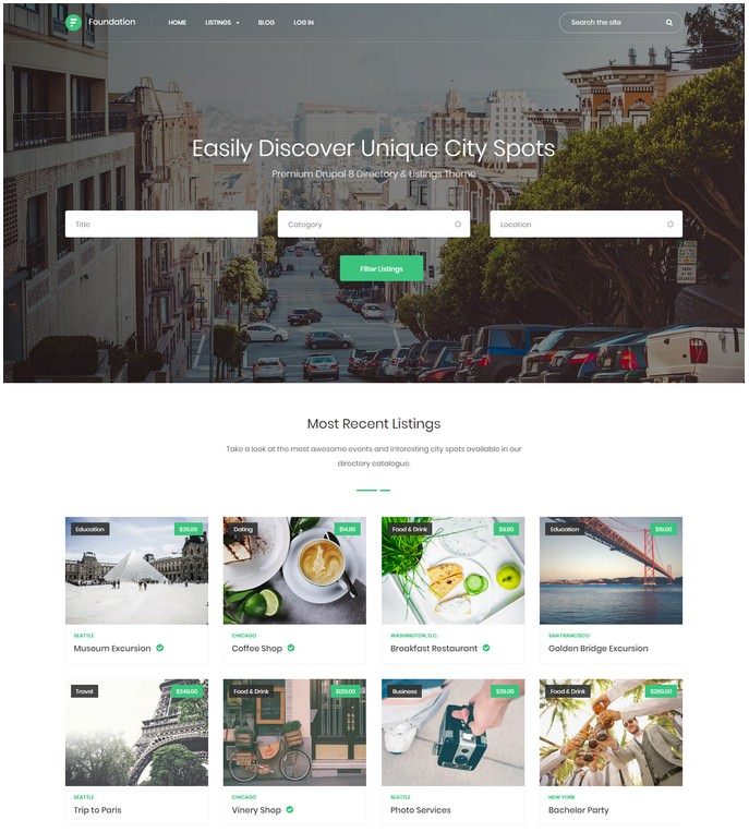 Foundation - Drupal 8 Theme