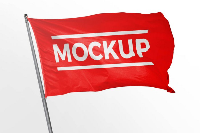Free Flag Mockup # 2