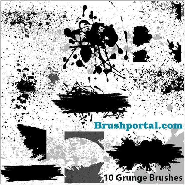 Grunge and Splatter Brushes