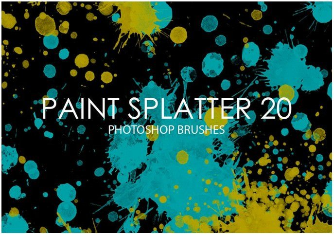 Free Paint Splatter Photoshop Brushes 20