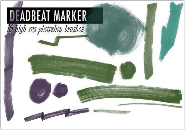 Free Photoshop Marker Brushes