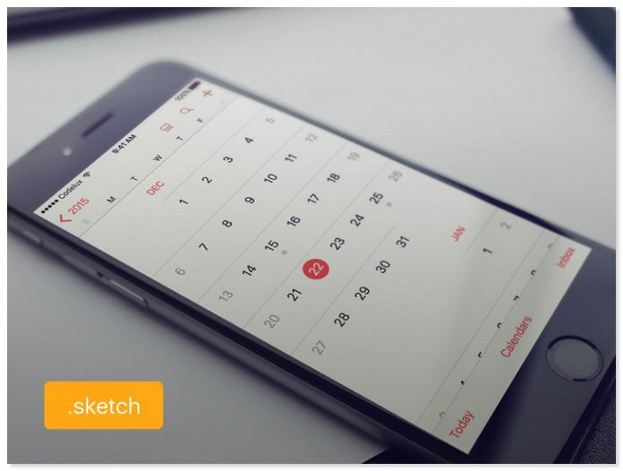 Free iOS Calendar UI Design (Sketch)