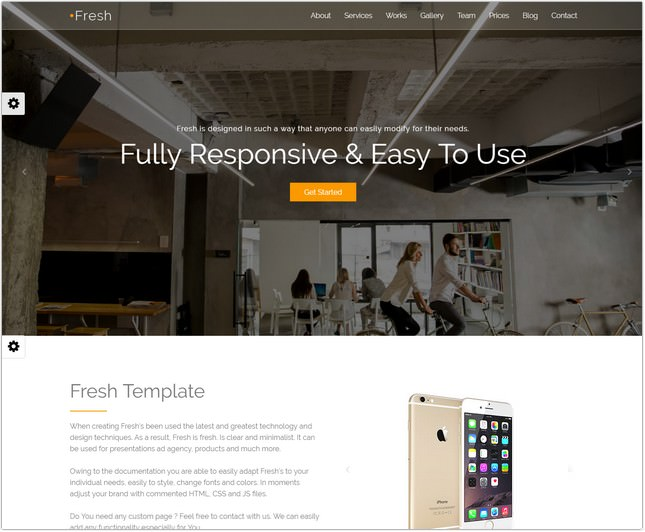 Responsive One-Page Bootstrap Parallax Template