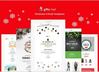 Gifts Email Christmas Templates