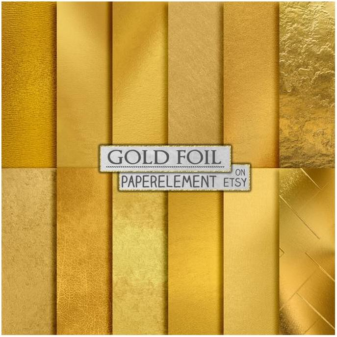 Gold Foil Digital Paper Texture