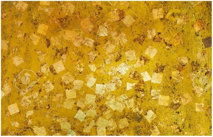 Gold Leaf ,Gold Foil Texture