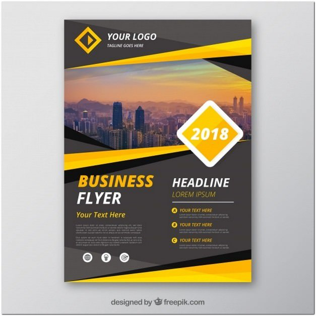 Grey And Yellow Business Flyer