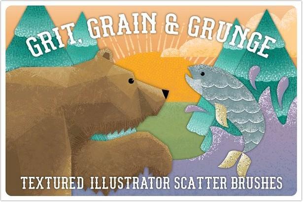 Grit, Grunge & Grain Scatter Brushe