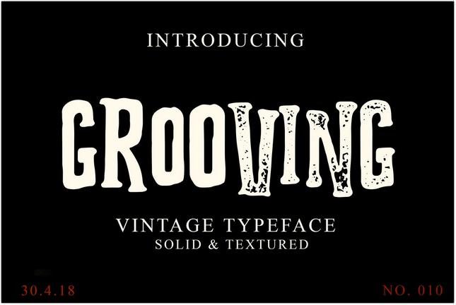 Grooving Vintage Font