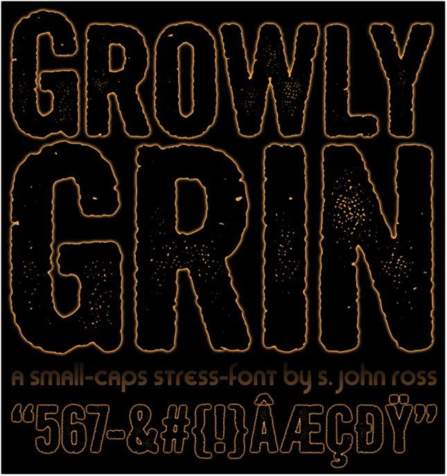 Growly Grin Fonts