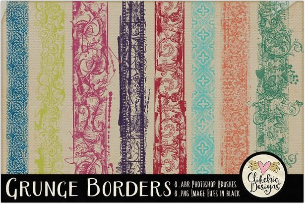 Grunge Border Photoshop Brushe