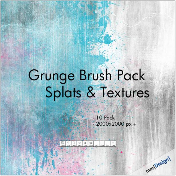 Grunge Splats and Textures – Free Photoshop Brush
