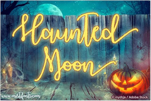 Haunted Moon Font