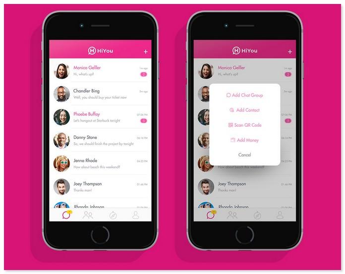 HiYou Chat App UI / UX