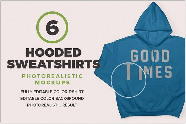 Hooded Sweatshirts Mockup