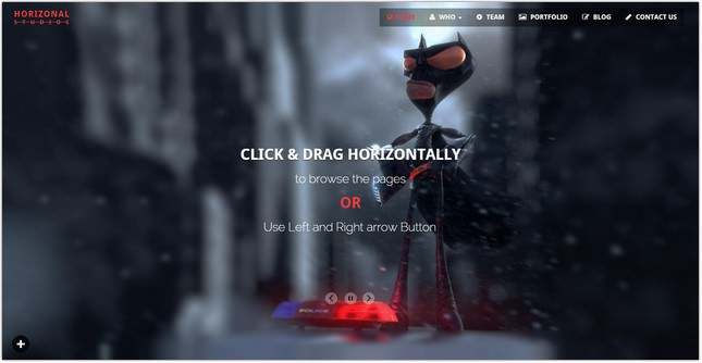 Horizonal Unique Creative OnePage Bootstrap HTML5