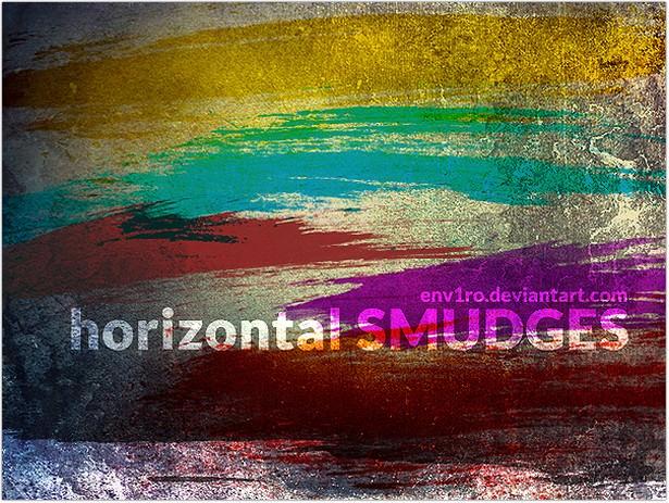 Horizontal Smudges brushe
