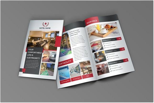 Hotel Bifold Brochure template