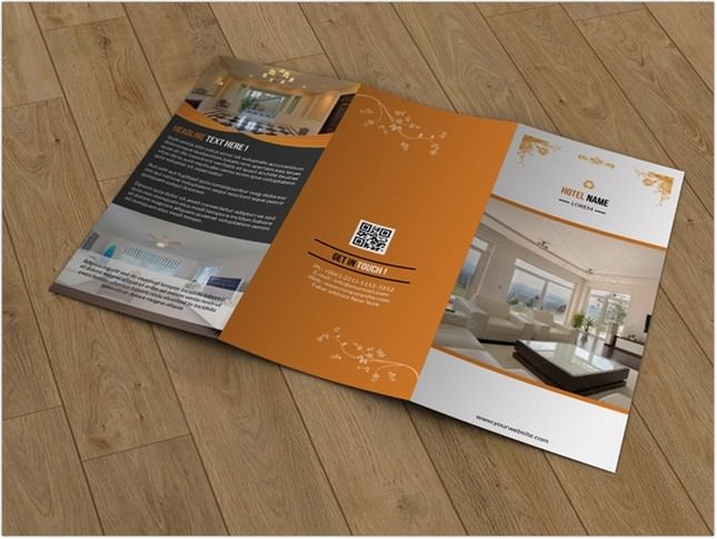 Hotel Business Trifold Brochure template