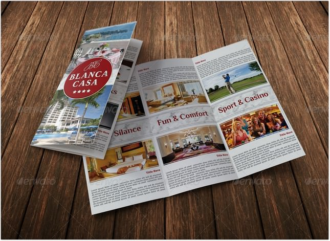 Hotel Trifold Brochure Template