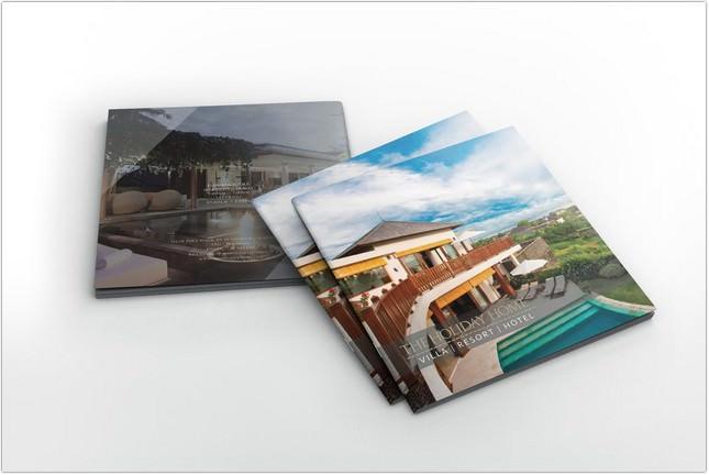Hotel Villa Resort Square Brochure template