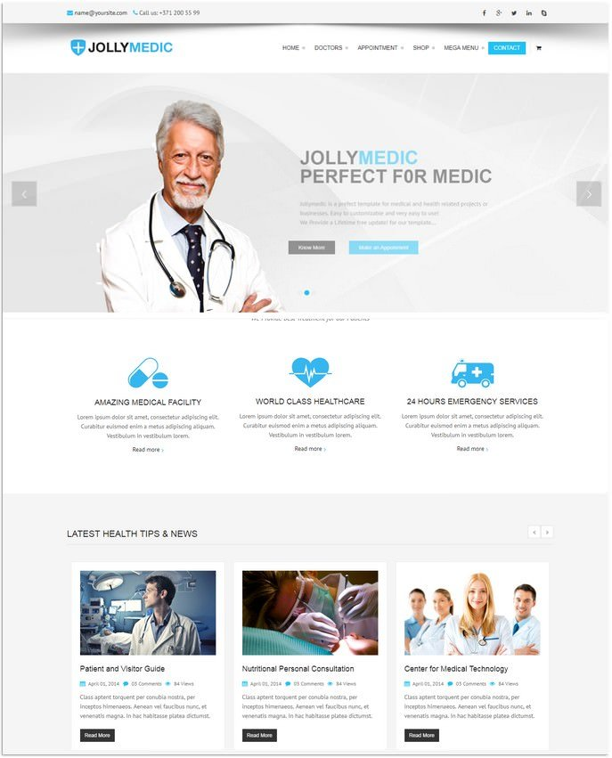 Medical Site Template
