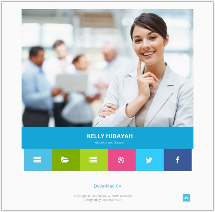 Free Bootstrap CV Resume HTML Template