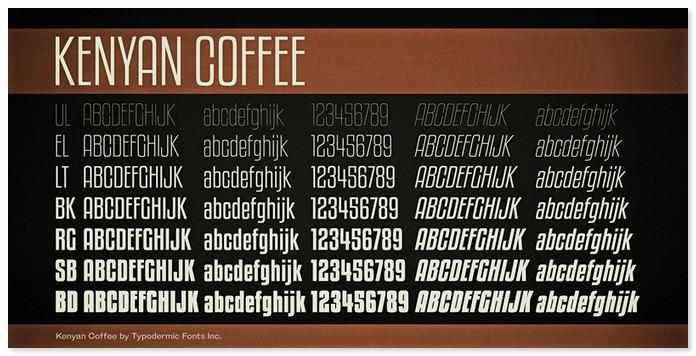 Kenyan Coffee Bold Font