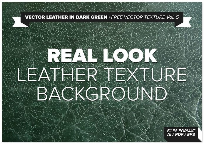 Leather In Dark Gree Vector Texature