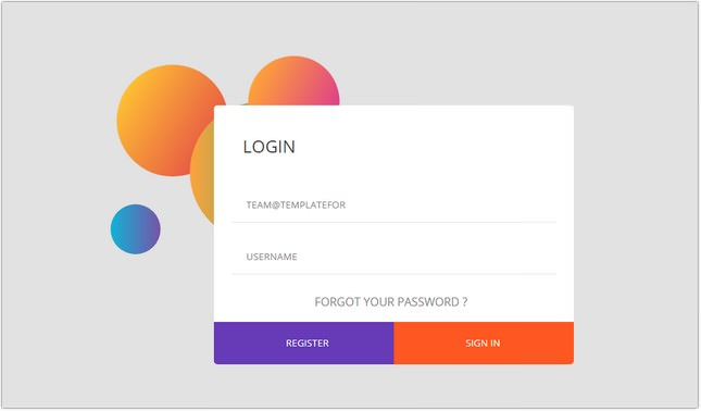 Login form UI Design