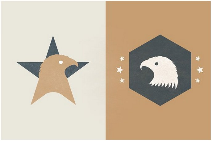 Logo Template – American Eagle Star
