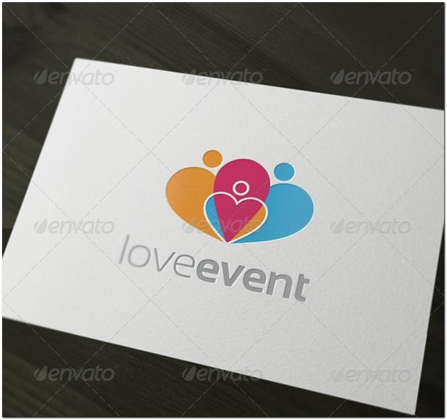 Love Event logo template