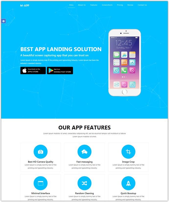 Mobile App Showcase HTML Template