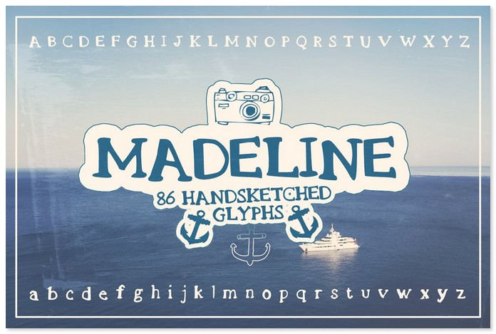 Madeline Handsketched Decorative Font